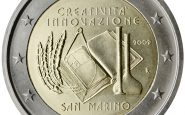 Photography of commemorative Euro coins