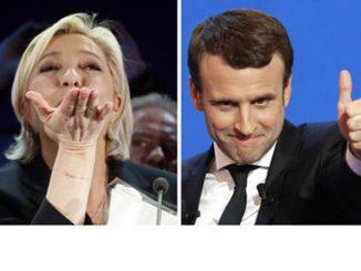 Le Pen e Macron