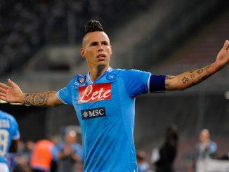 Il Napoli non riesce a passare alla fase successiva delle Coppa Italia e il suo Capitano, Hamsik, fissa un nuovo obiettivo da raggiungere al più presto.nella foto: Marek Hamsik
