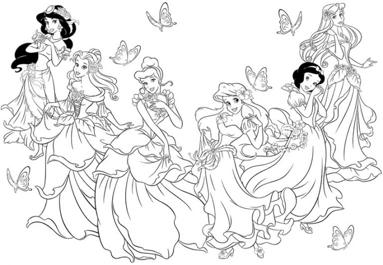 Le principesse disney da colorare online for Principesse disney da colorare
