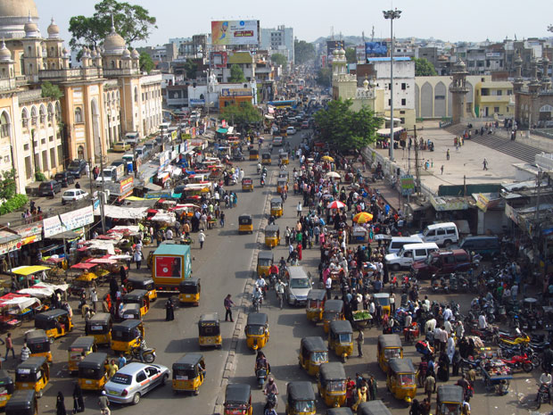 ruas de hyderabad india
