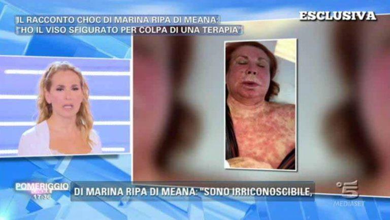 Marina Ripa di Meana shock