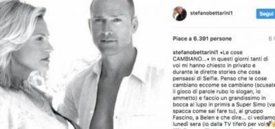 Il messaggio di Stefano Bettarini all'ex moglie
