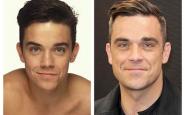 Robbie Williams ragazzino e oggi