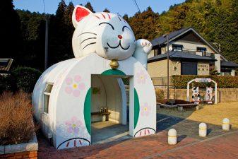 Anche case a forma di gatto
