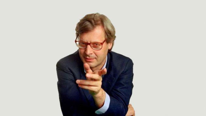 Vittorio Sgarbi ritratta: