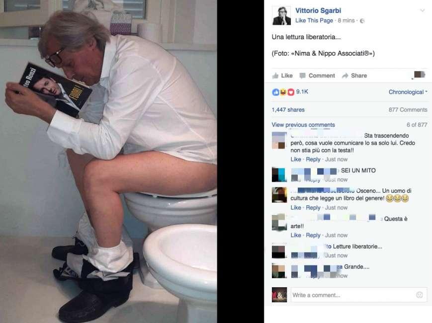 Vittorio Sgarbi: la foto choc che preoccupa i fan