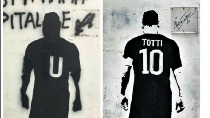 Roma, vandali imbrattano il murale di Totti: