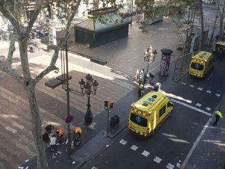furgone sulla folla a barcellona