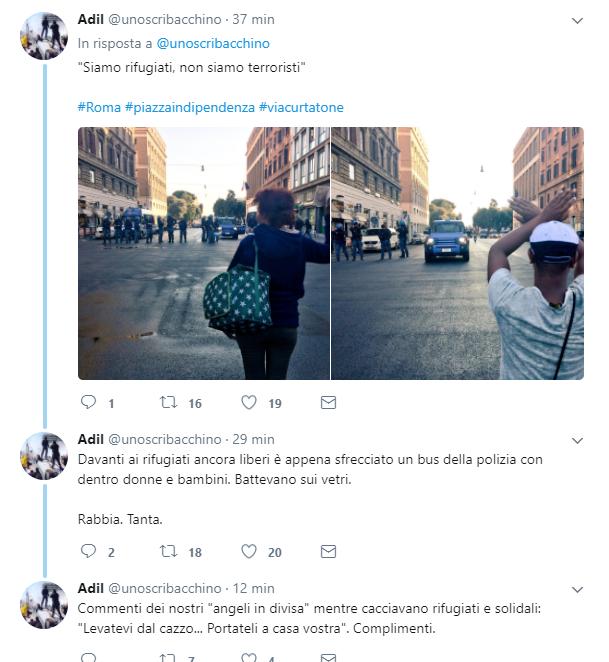 Roma, migranti sgomberati. Bombole contro gli agenti