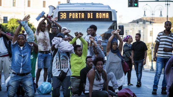 Corteo a Roma