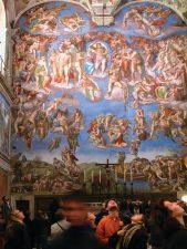 Particolare della Cappella Sistina