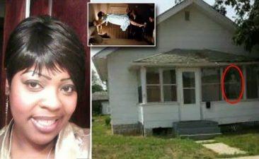 DA sinistra Latoya Ammons, poi la casa, la figlia e il demone
