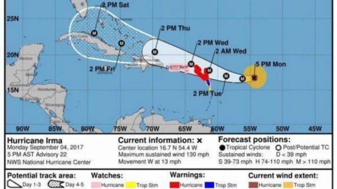 Uragano Irma, è di categoria 5: paura in Florida
