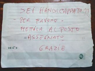 messaggio auto disabile