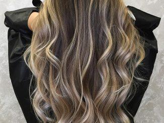 Shatush su capelli castani