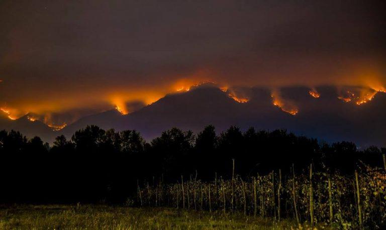 Incendi in Piemonte