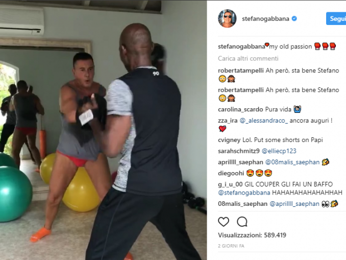 Stefano Gabbana workout
