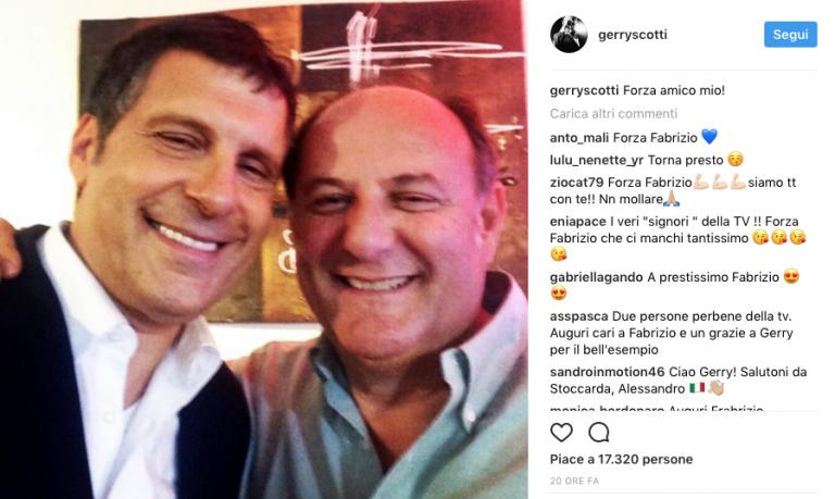 Fabrizio Frizzi sta meglio : Gli auguri di Gerry Scotti a Caduta Libera