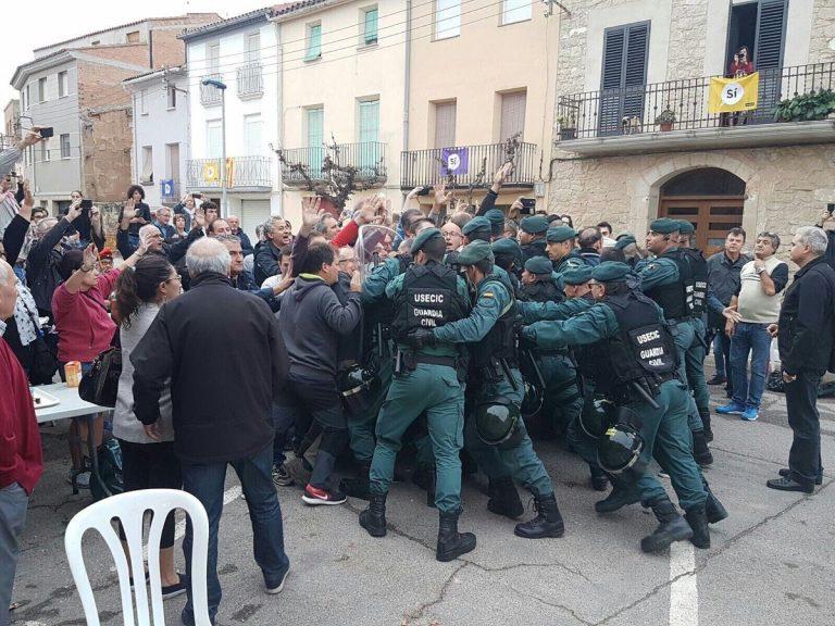 scontri in catalonia