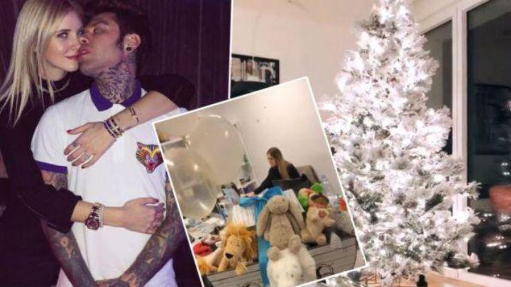 Il Natale arriva a casa di Fedez e Ferragni: le foto