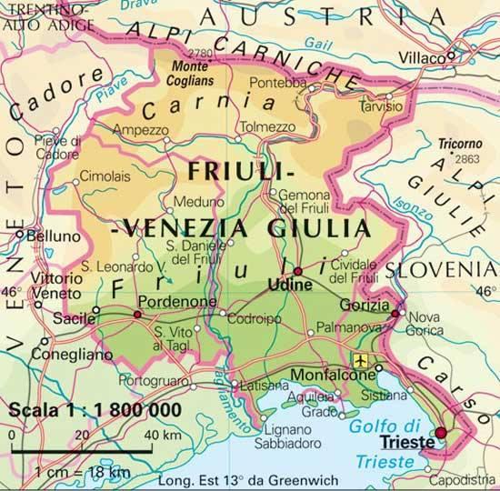 Cartina regionale