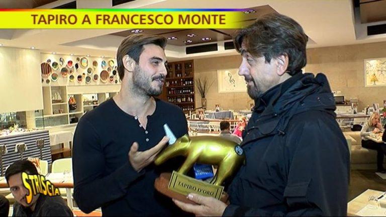 Tapiro d'Oro a Francesco Monte che assicura: