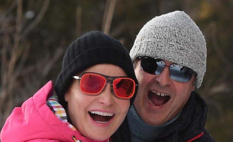 La coppia sulla neve