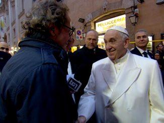 Incontro tra il Papa e il giornalista