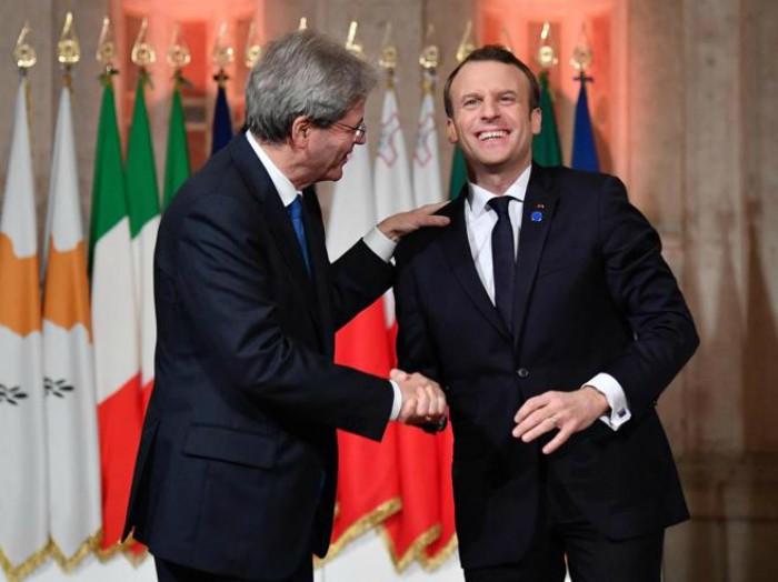 Macron a Roma