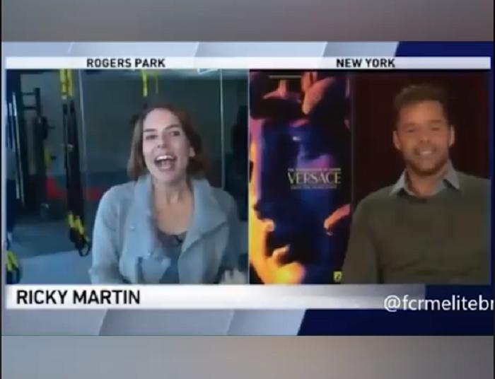 YOUTUBE Intervista Ricky Martin ed esulta: il cantante è però ancora collegato