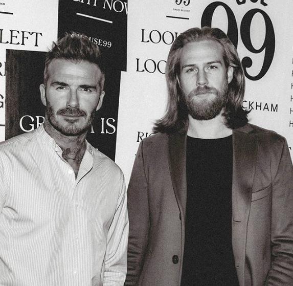 Gwilym Pugh con David Beckham