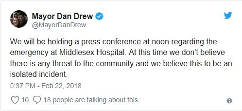 Il tweet del sindaco