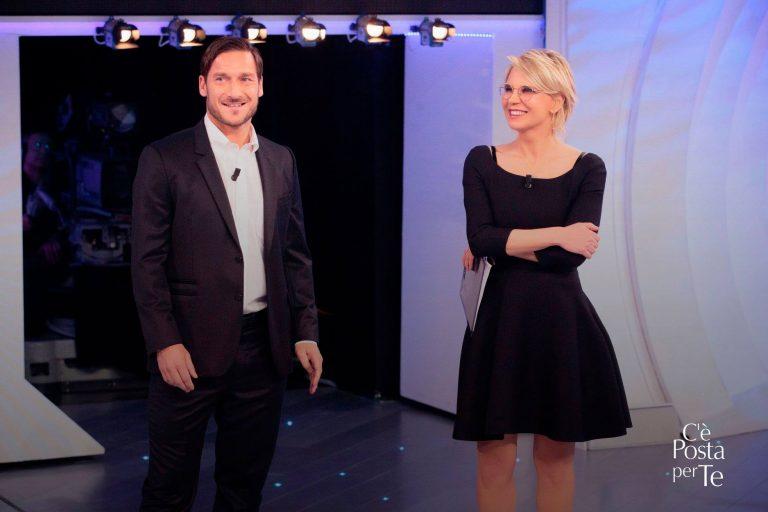 C'è posta per te, stasera ospiti Francesco Totti e Giorgia