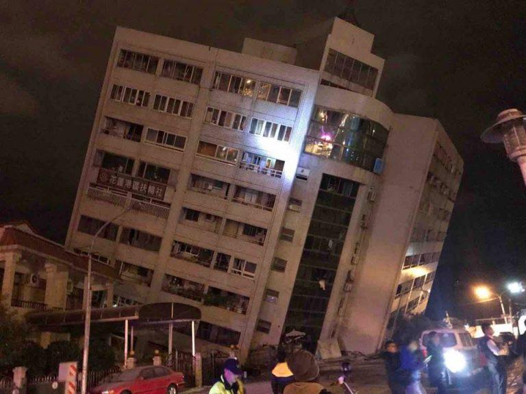 Terremoto devastante a Taiwan, crolla un hotel: persone intrappolate