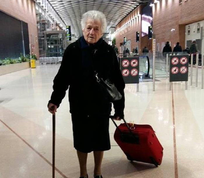 Nonna Irma, a 93 anni, parte per aiutare i bambini in Kenya