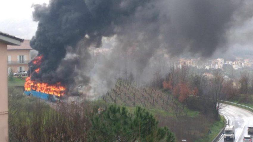 L'immagine dell'incendio