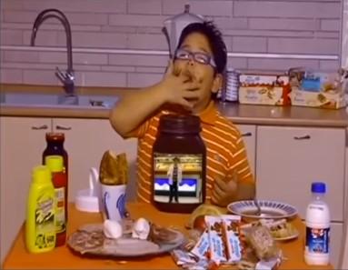 Lucio con la Nutella