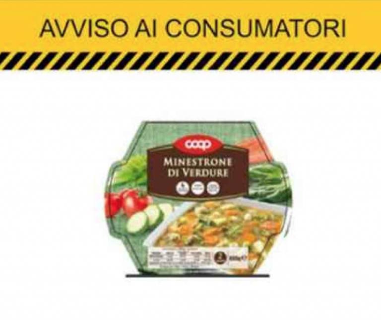 Glutine non dichiarato, Coop ritira un lotto di minestrone fresco di verdure
