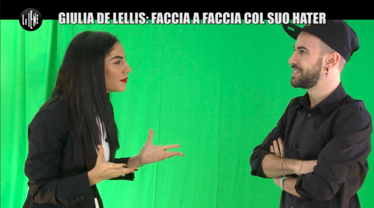 Giulia De Lellis incontra un suo hater a Le Iene