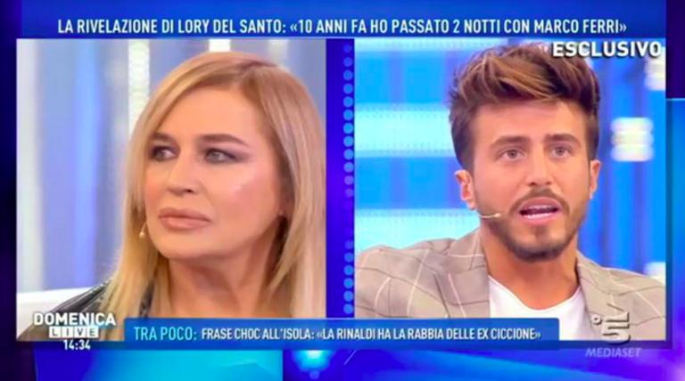 Lory Del Santo e Marco Ferri
