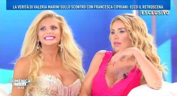 Il messaggio di Patrick Baldassarre fidanzato di Valeria Marini a Domenica Live
