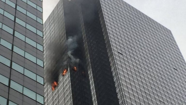 Incendio nella Trump Tower a New York , un morto
