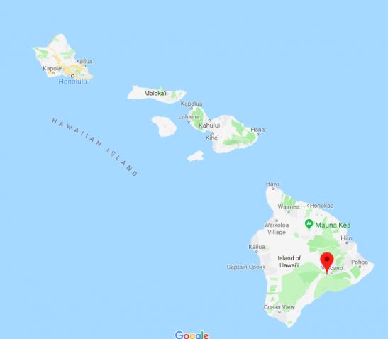 Il vulcano Kilauea, responsabile del terremoto