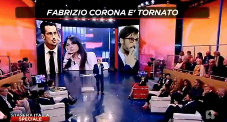 Fabrizio Corona: telefonata in diretta contro Alda D'Eusanio
