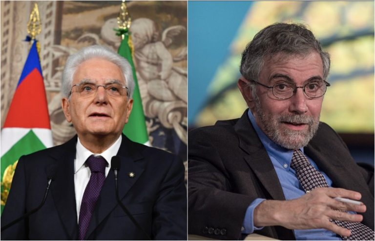 Mattarella criticato dal premio Nobel Krugman