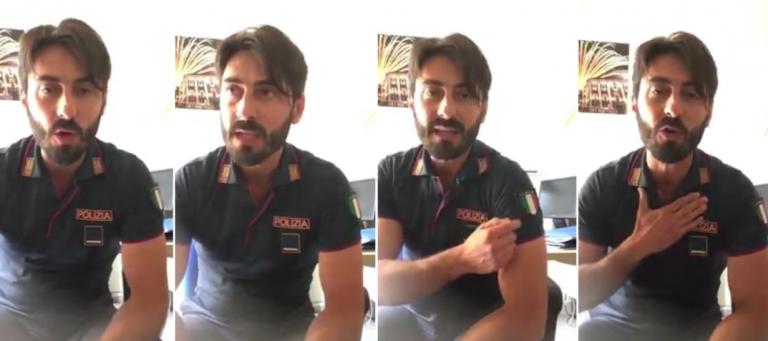 Poliziotto siciliano pubblica un video contro Mattarella