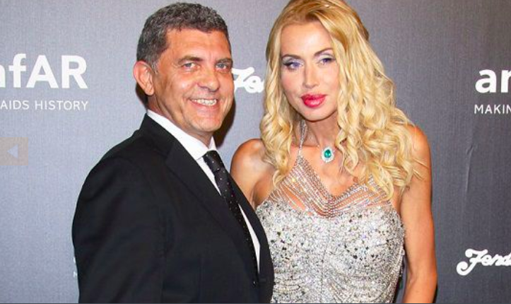 Valeria Marini con l'ex marito Giovanni Cottone