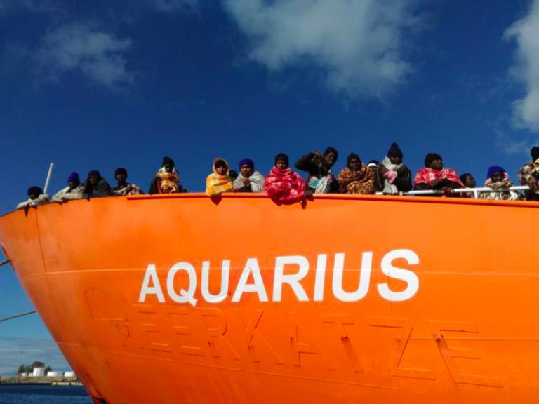 Aquarius verso Valencia