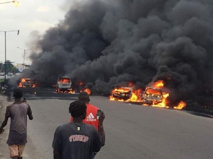 Incendio, Lagos